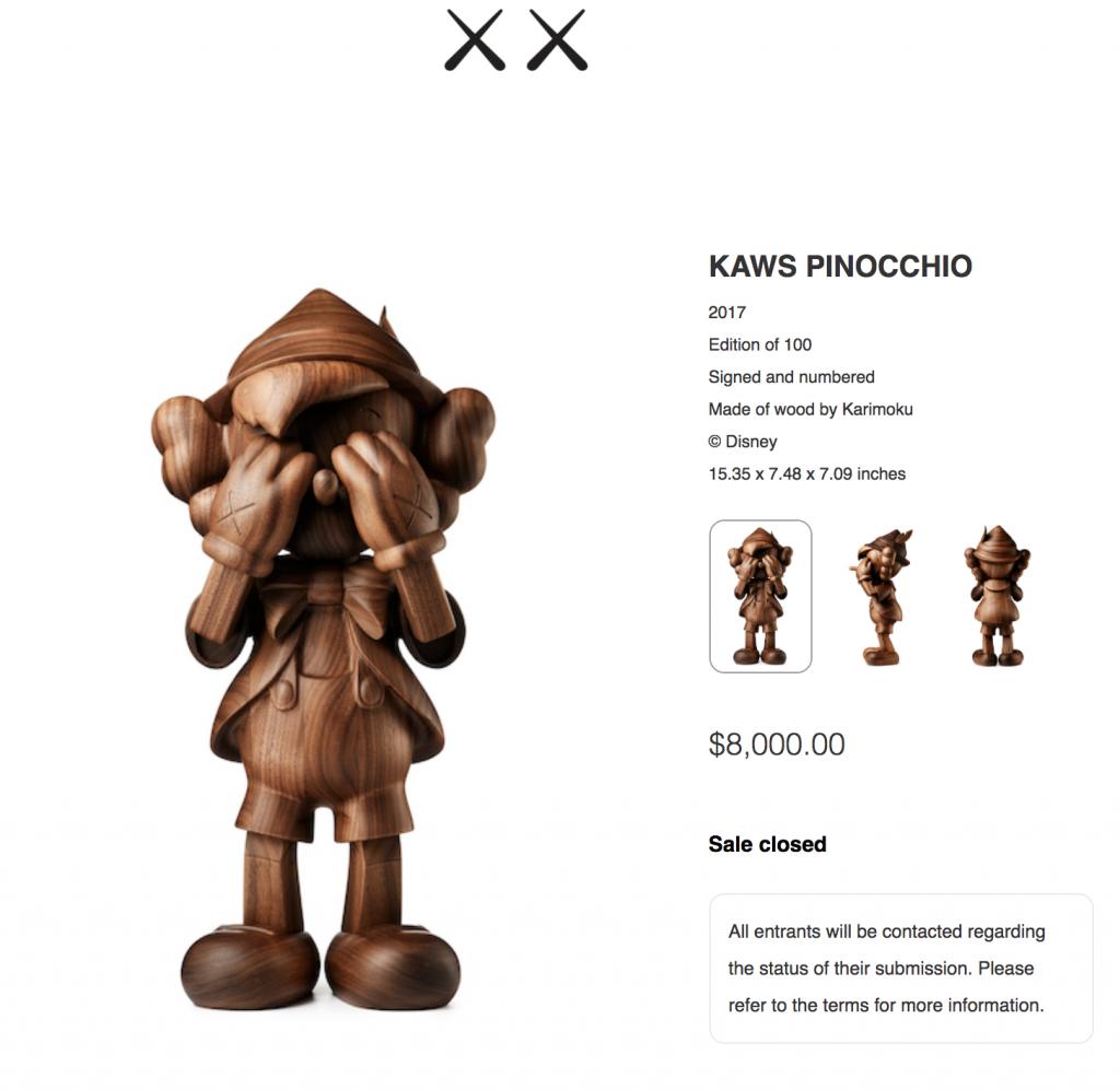 KAWS-Disney-Pinocchio-Lottery