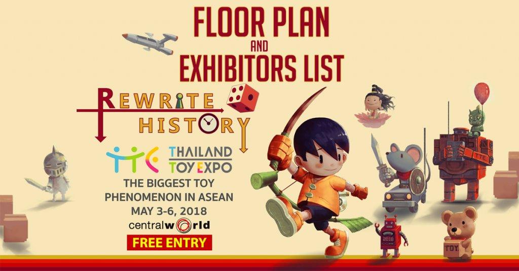 Thailand Toy Expo 2018 Floor Plan and Exhibitors List