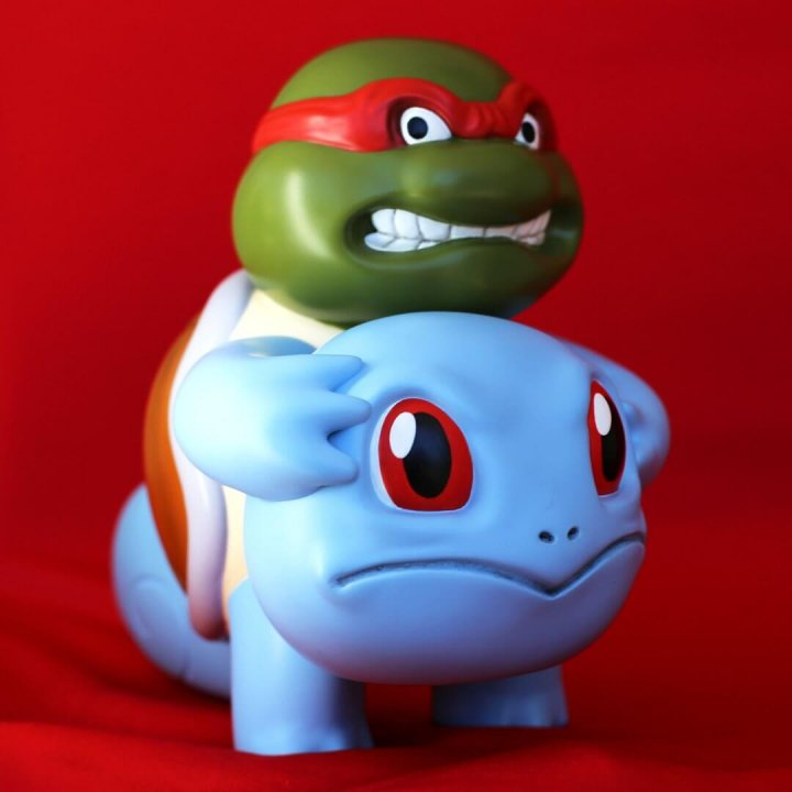Squirtle Unmasked Icons Unmasked Series By Alex Solis Worldwide Release resin figure