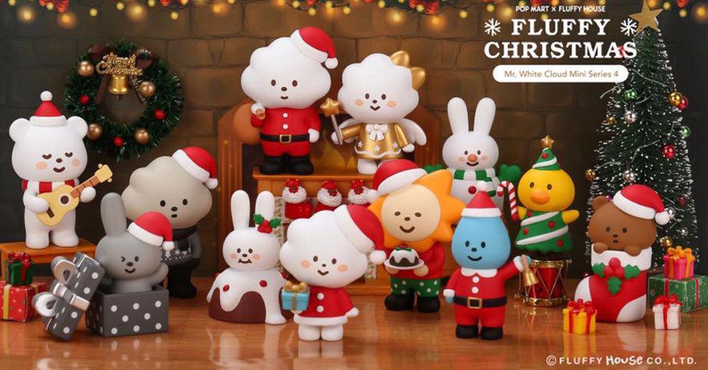 Mr. White Cloud Mini Series 4 – Fluffy Christmas By Fluffy House x ...