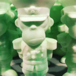 glow-green-monkey-dictator-paper-plastick
