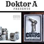 Doktor A Copper Creeps cast metal pins figures