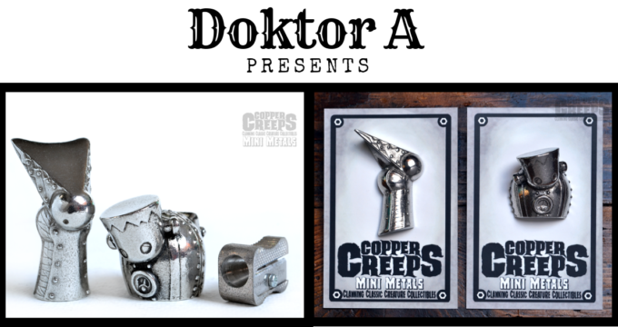 Doktor A Copper Creeps cast metal pins figures