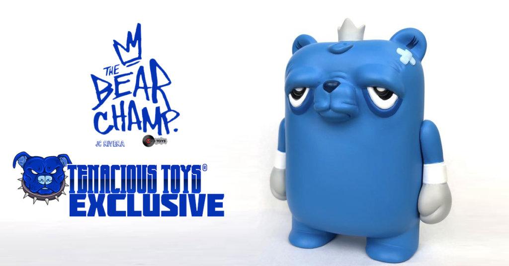 JC Rivera Bearchamp Blue Vinyl Figure by UVD Toys Tenacious Exclusive