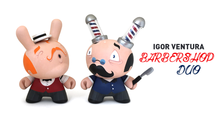 igor-ventura-barbershop-duo-custom-kidrobot-dunny-featured