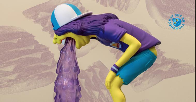 Vomit Kid (Fast Food Purple) by OKEH-featured
