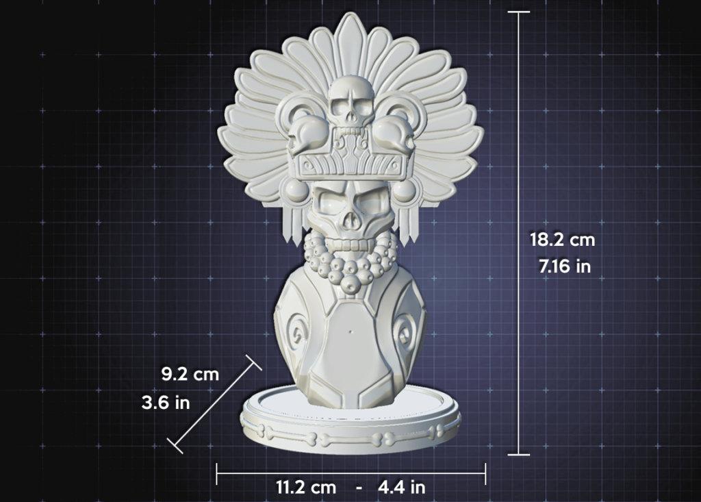 Micltantecuhtli Art Toy Size