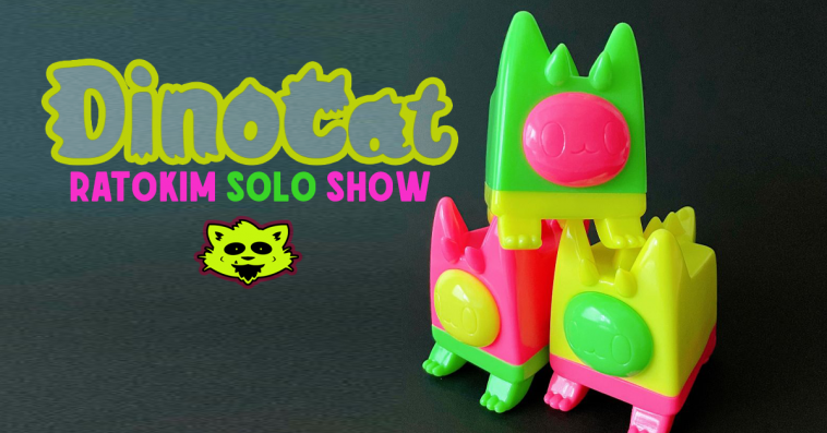 rato-kim-DINOCAT-solo-show-strangecattoys-featured