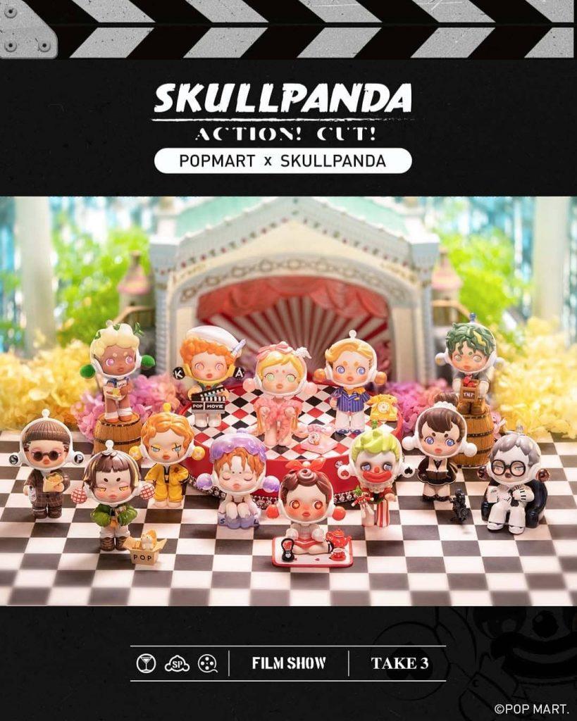 Skull Panda x POP MART Skullpanda Action Cut Blind Box Series The Toy Chronicle 2021 rr1111